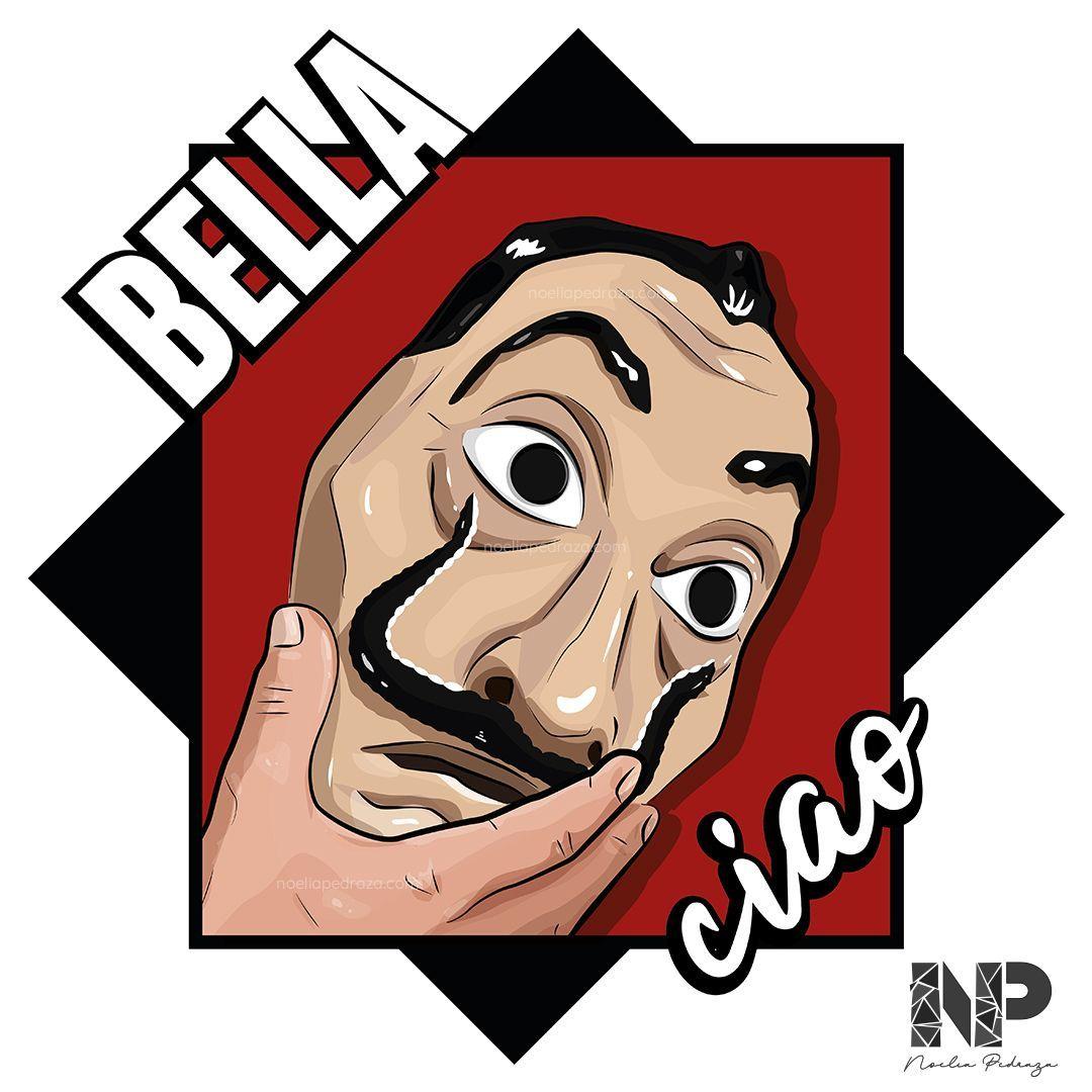La casa de papel Bella Ciao Ilustración