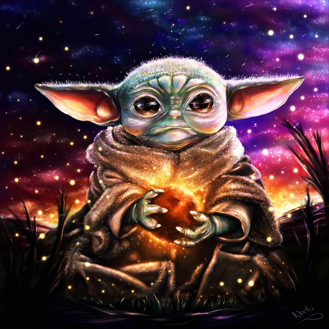 Dibujo Clipstudio Grogu (Baby Yoda)