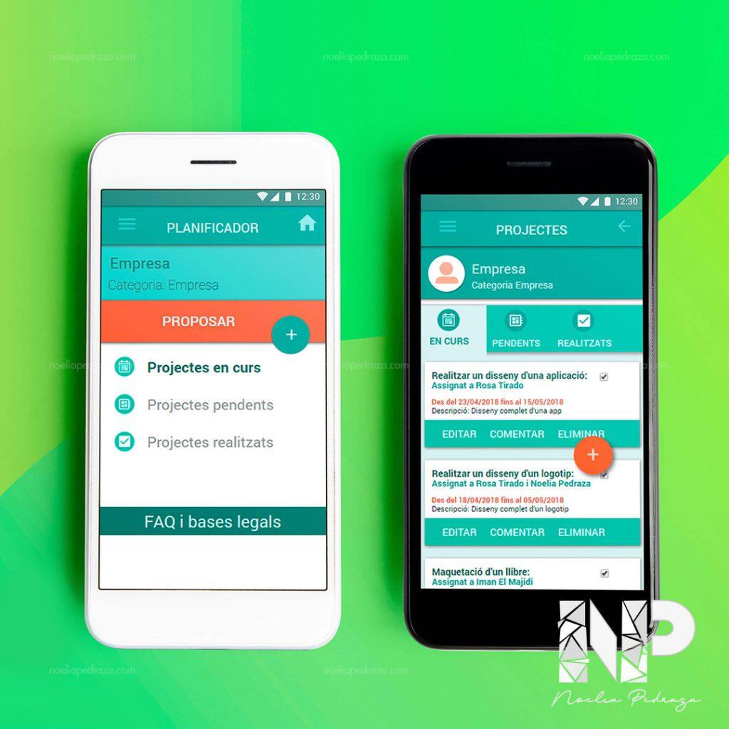 diseño de app de organización