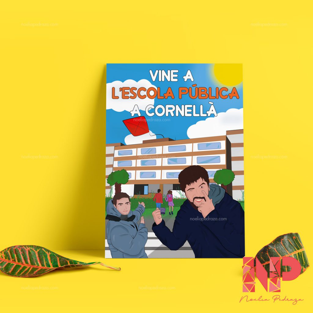 cartel para colegios publicos