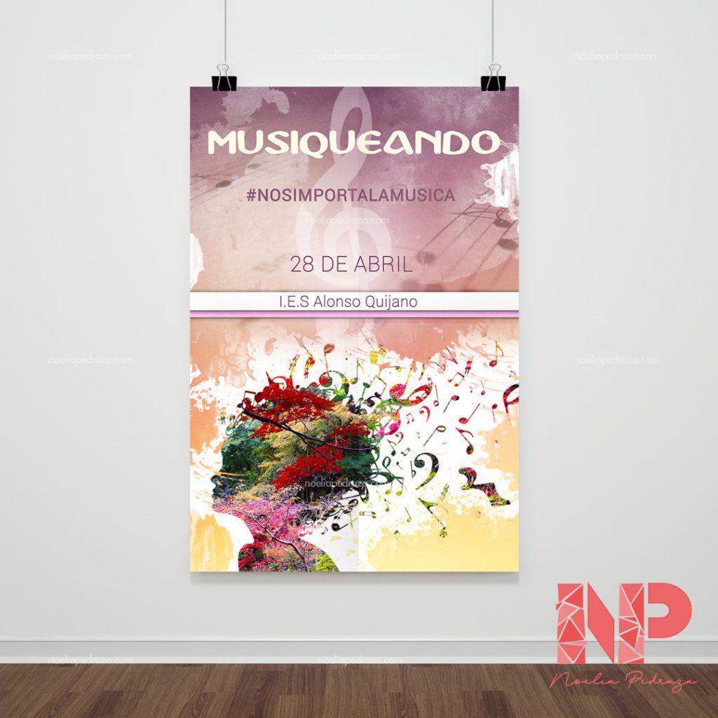 cartel publicitario grupo musical