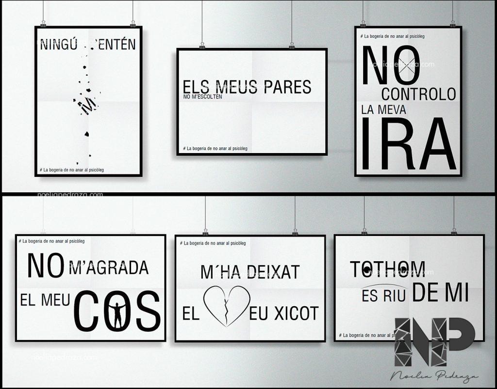 carteles para campaña de psicología