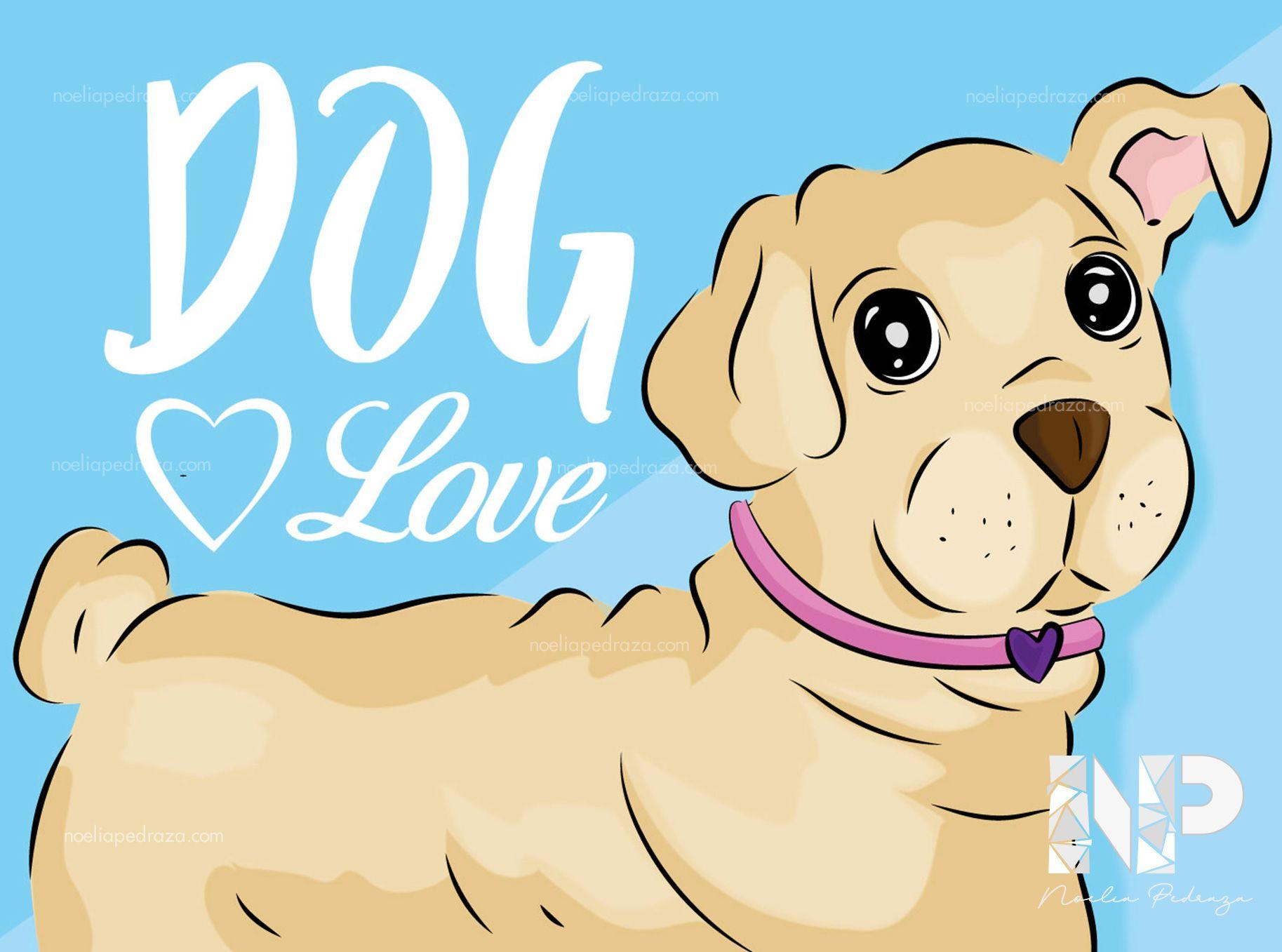 Ilustración perro bonito