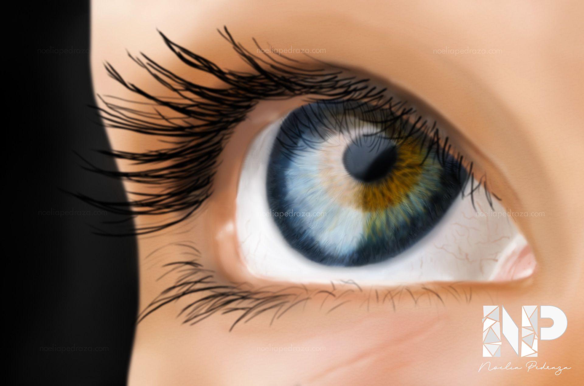 IlustraciónDibujo de ojo realista con Procreate
