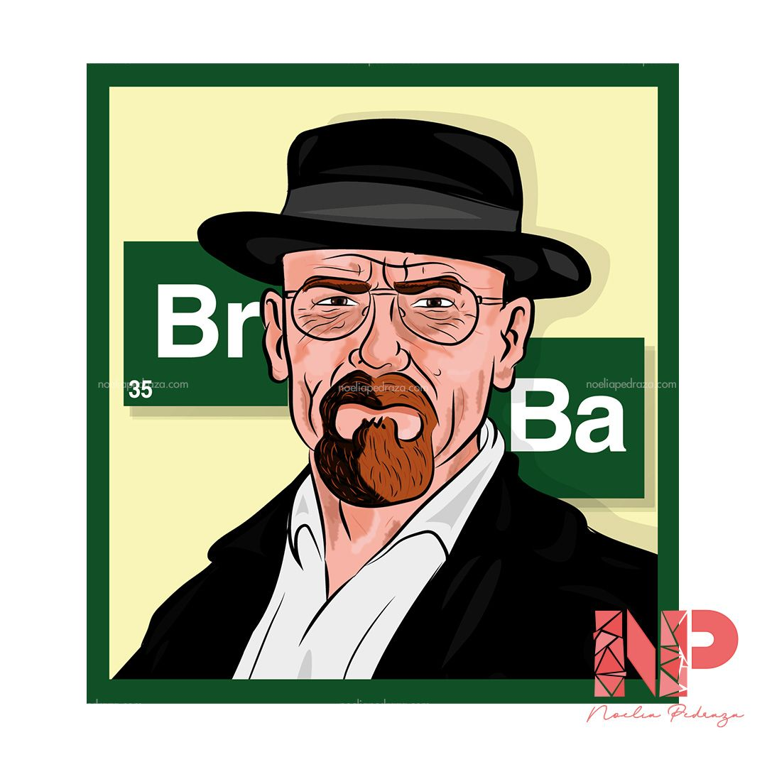 Ilustración de Heisenberg de Breking Bad