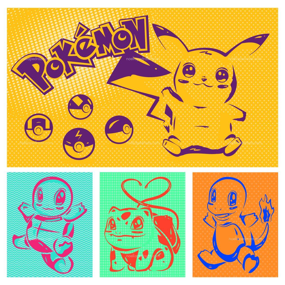 Ilustración de Pokemon estilo Pop Art
