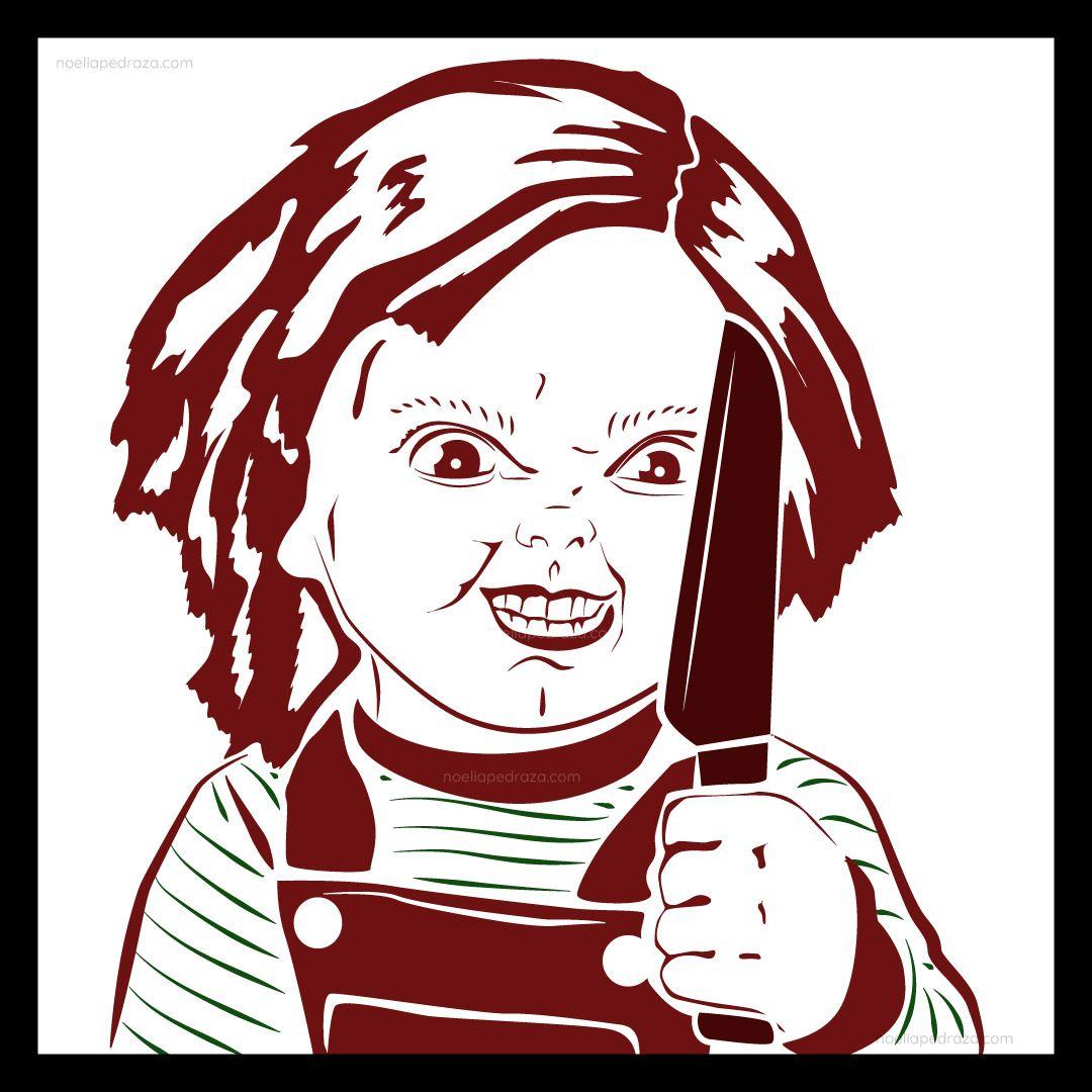 Chucky minimal illustration