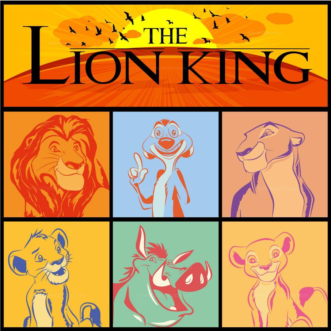 Illustration The Lion King Minimalist