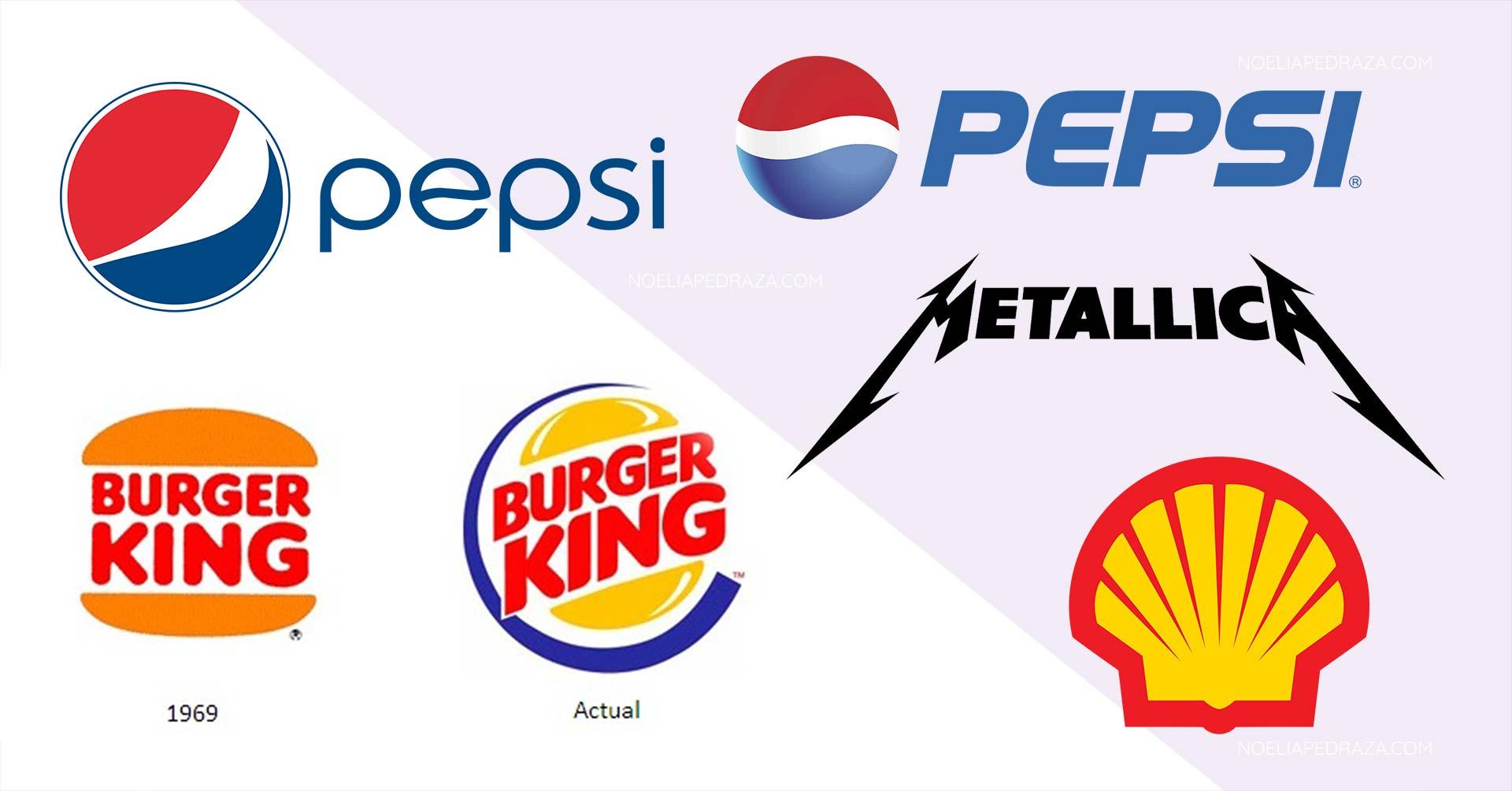 Evolución de los logos de grandes marcas